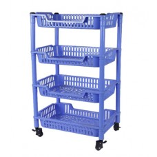 4 Racks Trolley with Revolving Wheels