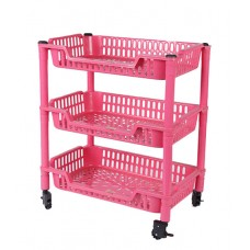 3 Racks Trolley with Revolving Wheels